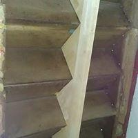 Structurele traprenovavite met Rubberwood